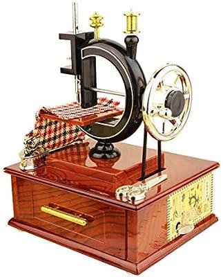 Joojun Caja de música de máquina de Coser de manivela Vintage con ...