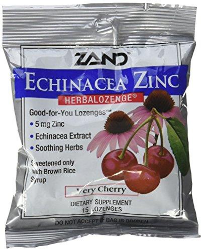 Zand Herbal Lozenge Cherry Echinacea Zinc Cough Drops, 3 Count