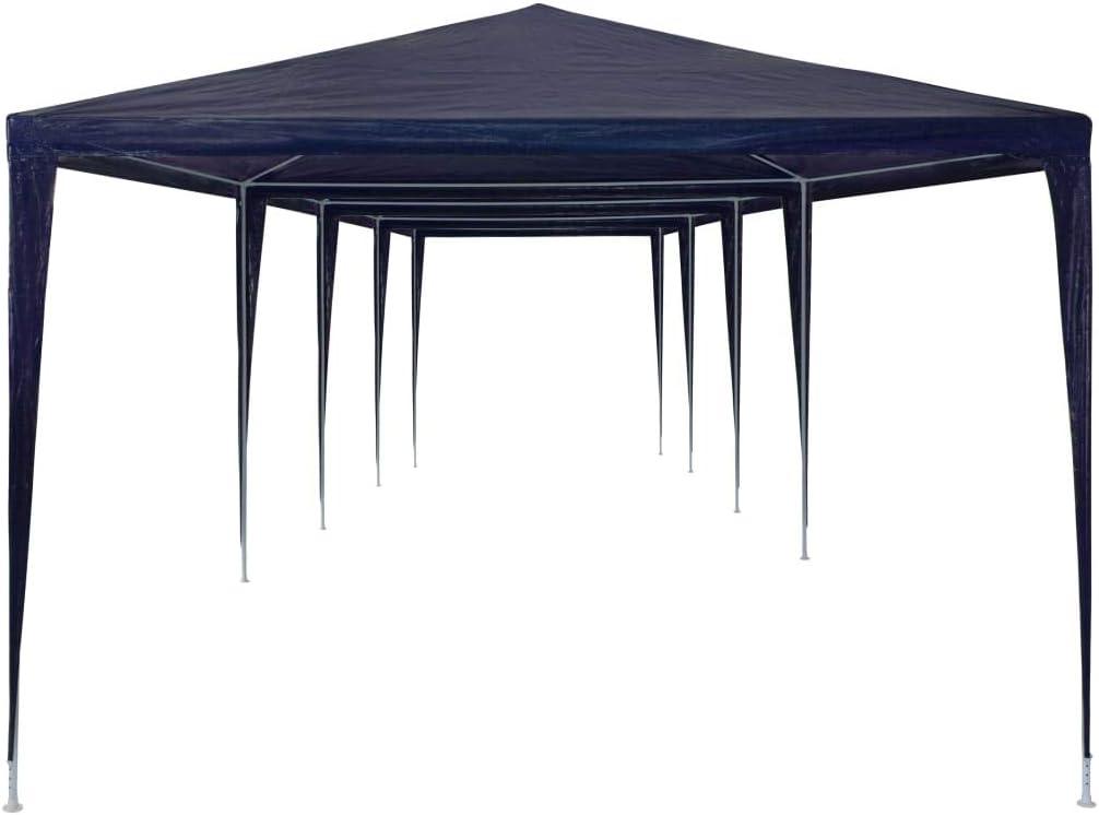 tidyard Carpa de Jardín Cenador para Patio Tienda para Camping Fiesta Celebraciones Evento al Aire Libre Boda Fiest Barbacoa con Estructura de Acero Azul 3x12x2,55m: Amazon.es: Hogar
