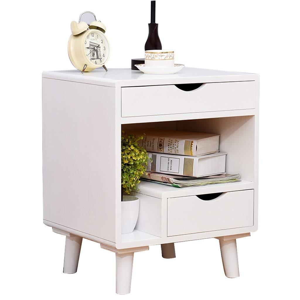 LMCLJJ Nachttische Beistelltisch Nachttisch mit Schublade Massivholzbeinen Wohnzimmer Schlafzimmermöbel