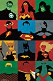 "Justice League, Minimalist, 22"" x 34"", Wall Poster"