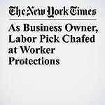 As Business Owner, Labor Pick Chafed at Worker Protections | Jodi Kantor,Jennifer Medina
