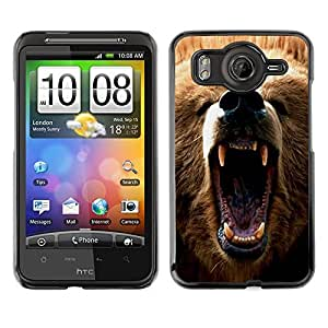 YOYO Slim PC / Aluminium Case Cover Armor Shell Portection //Cool Angry Bear Grizzly //HTC G10