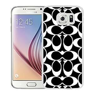 Beautiful Coach 63 White Samsung Galaxy S6 Screen Cellphone Case Handmade and Fashion Design