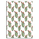 iPrint Door Curtain(Two Panels) Custom,Cactus Decor,Cactus with Spikes and Red Flowers Mexican Hot Desert Vintage Image Art,Green and Orange,Individualization,W27.6 xH59.1