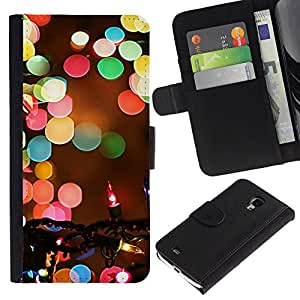 Stuss Case / Funda Carcasa PU de Cuero - Christmas Blurry Winter Night - Samsung Galaxy S4 Mini i9190 MINI VERSION!