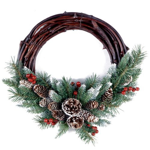 National Tree 16 Inch Frosted Berry Grapevine Wreath (FRB-16GV-1)