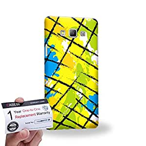 Case88 [Samsung Galaxy A7] 3D impresa Carcasa/Funda dura para & Tarjeta de garantía - Art Fashion Patched Up Pattern C