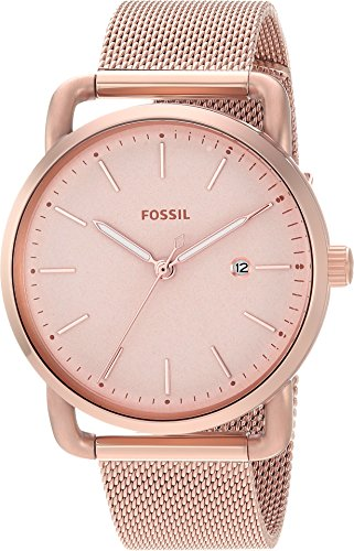 Fossil Women's 'Commuter' Quartz Stainless Steel Casual Watch, Color:Rose Gold-Toned (Model: ES4333) by Fossil