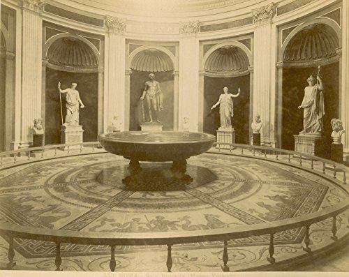 Posterazzi Poster Print Collection Rome: Round Hall/N(Sala Rotonda) in the Museo Vaticano. Photograph 1890S, (18 x 24), Multicolored
