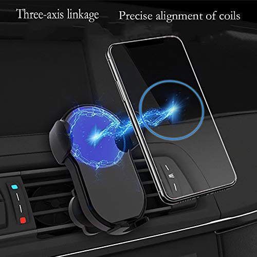 g-JACK Wireless Car Charger Mount,Automatic Clamping,Qi 15W 10W 7.5W Fast Charging,Air Vent Phone Holder Compatible with iPhone Xs//Xs Max//XR//X//8//8 Plus//9//9 Plus//10//10Plus//11