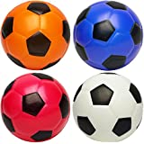 "Kiddie Play Set of 4 Soft Balls for Toddlers 4"" Soccer Ball for Kids"