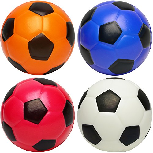 Kiddie Play Set of 4 Soft Balls for Toddlers 4'' Balls for Kids by Kiddie Play