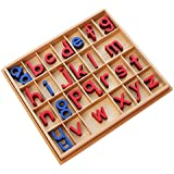 Montessori Language Small Movable Alphabet with Box (Red & Blue)