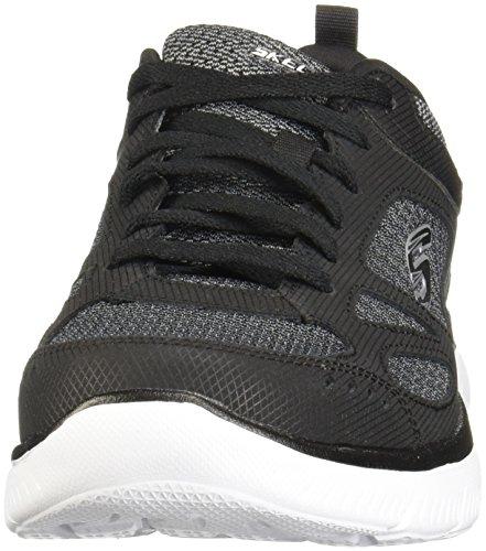 52812 Bkw Sommets - Hommes Rive Sud Sneaker En Cuir Faux Et Tulle Noir / Gris