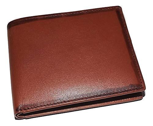 Mancini Men's Belting Leather RFID Blocking Bifold Passcase Wallet Cognac -