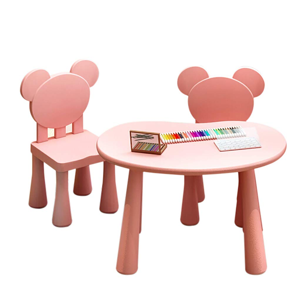 Kids Table and Chairs Set Toddler Activity Chair Best for Toddlers Reading Art Play-Room Little Kid Children Furniture Plastic Desk by Children Desk