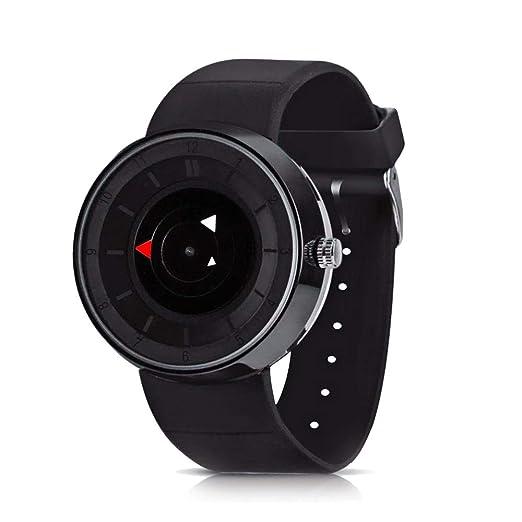CFGem Relojes Hombre Puntero Impermeable de Cuarzo con Banda de Reloj de Caucho de Silicona Relojes de Hombre PRM-3508 Negro Reloj Hombre: Amazon.es: ...