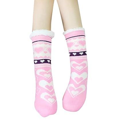 756f870cec2 Pausseo 1 Pair Adult Soft Cosy Home Bed Floor Booties Socks Womens Slipper  Antislip Warm Fleece
