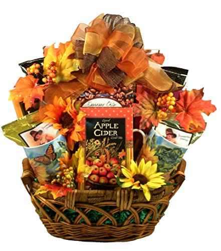 The Colors Of Fall, Thanksgiving and Fall Gift Basket With The Colors, Smells and Flavors Of Fall - Large, 16 Pounds