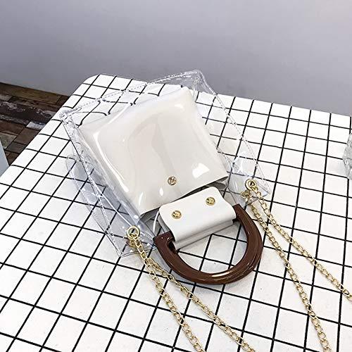 Élégante couleurs Chaîne De Seule Blanc Pièces Ouming En Mode Sac S À Métal Multi Tendance Amovible Bandoulière Deux Charma Wv4wx7