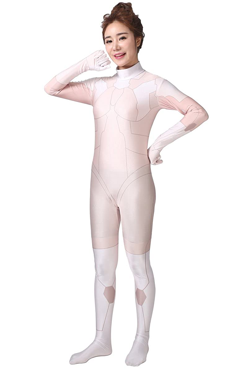 AOVEI Womens One Piece Unitard Full Bodysuit Lycra Spandex Second Skin Suit Zentai Suit, Digital Digital-Bodysuit-1