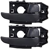 Door Handles Right Side Interior For 2001-2006 Hyundai Elantra Black 2pcs