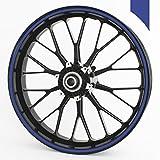 blue 24 inch rims - Wandkings wheel rim sticker 360 ° blue matte 0,35 inches / whole circle / for 24