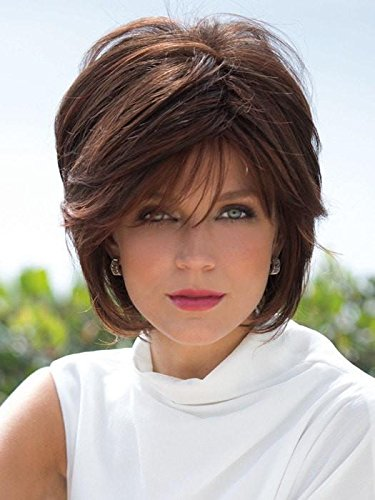 Blonde Lush Layers Wig (Wig Avg Cap Color Cappucino - Noriko Wigs Women's Tousled Bob Synthetic Short Choppy Layers Side Fringe Open Weft)