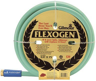 Gilmour 10-34075 10 Series 3/4-Inch-by-75-Foot 8-Ply Flexogen Hose, Green