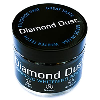 Activated Charcoal Teeth Whitening Powder by Diamond Dust - Fights Stains and Bad Breath, Detox Your Mouth Naturally, Organic Botanicals, New 7 Month Supply