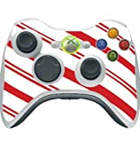 Christmas Red Candy Cane Xbox 360 Wireless Controller Vinyl Decal Sticker Skin by Moonlight Printing