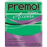 Polyform Premo! Sculpey Polymer Clay 2 Oz: Translucent Green