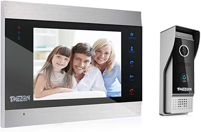 TMEZON videophone Visiophone Sonnette Filaire Interphone Syst/ème,1200TVL Cam/éra Compatible avec MZ-VDP-739EM,MZ-IP-V739W Imperm/éable,Enregistrement//Instantan/é Vision Nocturne//Infrarouge