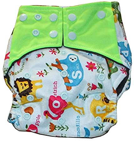 Amazon.com : Bertie Bums Happy Flute AIO Cloth Diaper with Pocket, Charcoal Bamboo Inner TIGER PRINT : Baby