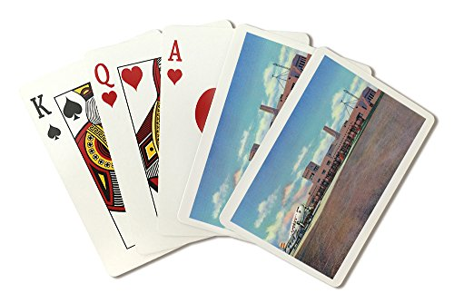 (Albuquerque, New Mexico - View of Municipal Airport Admin Building (Playing Card Deck - 52 Card Poker Size with Jokers))