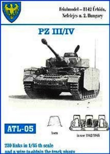 Friulmodel 1/35 Metal Track Link Set for Pz.III H-K & Pz.IV. 40cm width with solid horn. by 1/35 Panzer III/IV Track