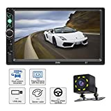 Car Stereo with Bluetooth 7 Inch Touch Screen Double Din Car Stereo with Backup Camera and