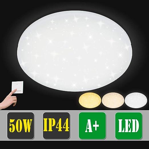 50W LED Deckenleuchte Deckenlampe Farbwechsel Flur Badleuchte Sternen Himmel