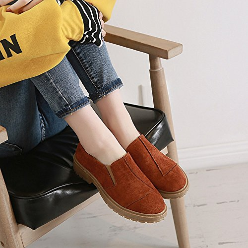 Suede Heeled Military Boots Chukka Shoes Insoles Lolittas Desert Ankle Steel Winter Martin Flat Women Calf Brown Toe Platform Steel xqE7xZY4w