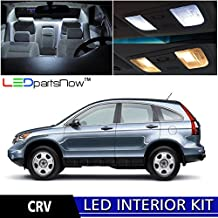 LEDpartsNOW Honda CRV 2007-2012 Xenon White Premium LED Interior Lights Package Kit (6 Pieces) + TOOL