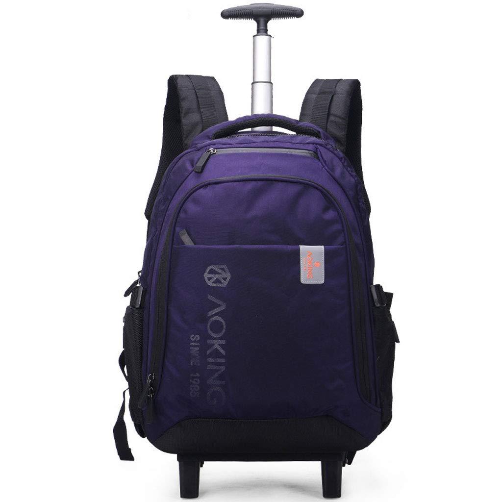 出張用トロリーバックパック、ラップトップタブレット持込手荷物、転がり荷物コンパートメント公認バッグ (色 : 紫の, サイズ さいず : M m) B07JDFJVSP 紫の M m