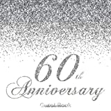 60th Anniversary Guest Book: Modern Guestbook for