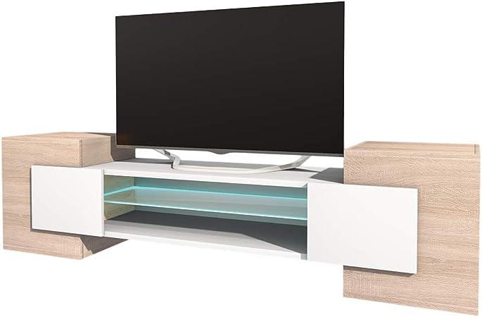 avec LED Selsey Meuble TV