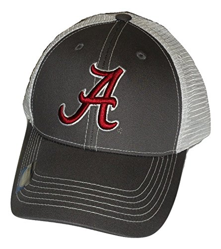 Alabama Crimson Tide Adjustable Gray Cap Mesh Back Hat (Alabama Cap)