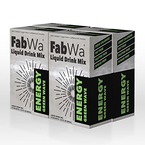 FabWa Liquid Energy Drink Mix - Green Wave - 4 Box Mulit Pack