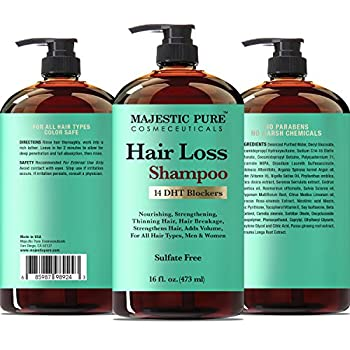Majestic Pure Hair Loss Shampoo, Offers Natural Ingredient Based Effective Solution, Add Volume & Strengthen Hair, Sulfate Free, 14 Dht Blockers, For Men & Women - 16 Fl Oz 6