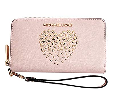 Michael Kors Large Flat Multifunctional Phone Case Zip Around Leather Wallet