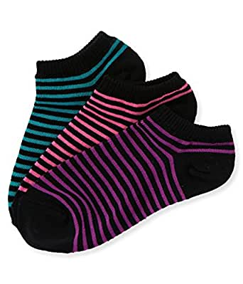 Aeropostale Womens Neon Stripe Lightweight Socks 487 9-11