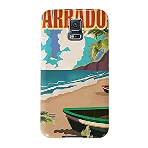 Barbados Full Wrap High Quality 3D Printed Case, Snap-On Cover for Samsung Galaxy S5 by Nick Greenaway